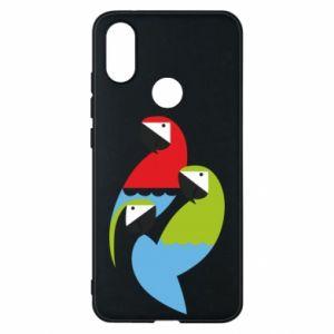 Etui na Xiaomi Mi A2 Jaskrawe papugi