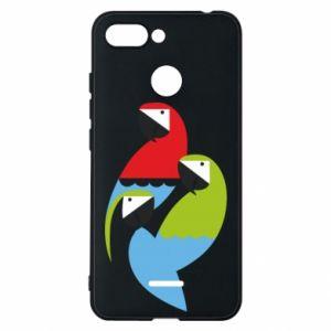 Etui na Xiaomi Redmi 6 Jaskrawe papugi