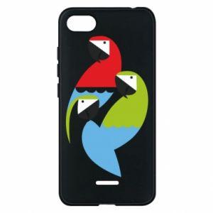 Etui na Xiaomi Redmi 6A Jaskrawe papugi