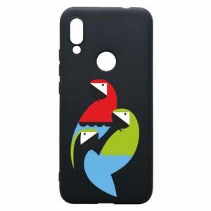 Etui na Xiaomi Redmi 7 Jaskrawe papugi