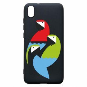 Etui na Xiaomi Redmi 7A Jaskrawe papugi