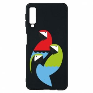Etui na Samsung A7 2018 Jaskrawe papugi