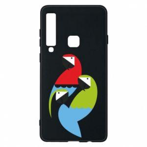 Etui na Samsung A9 2018 Jaskrawe papugi