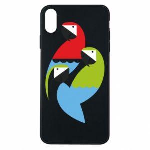 Etui na iPhone Xs Max Jaskrawe papugi