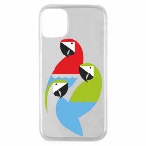 Etui na iPhone 11 Pro Jaskrawe papugi