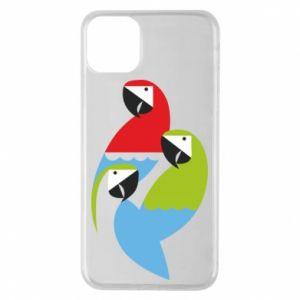 Etui na iPhone 11 Pro Max Jaskrawe papugi