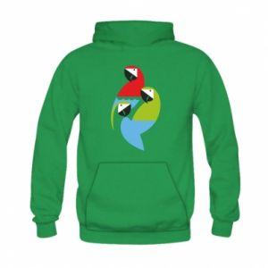 Bluza z kapturem dziecięca Jaskrawe papugi