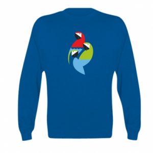 Bluza dziecięca Jaskrawe papugi