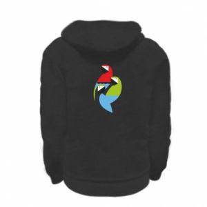 Bluza na zamek dziecięca Jaskrawe papugi