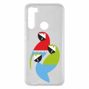 Etui na Xiaomi Redmi Note 8 Jaskrawe papugi