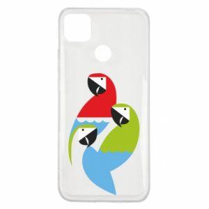 Etui na Xiaomi Redmi 9c Jaskrawe papugi