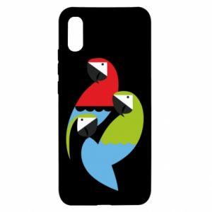 Etui na Xiaomi Redmi 9a Jaskrawe papugi