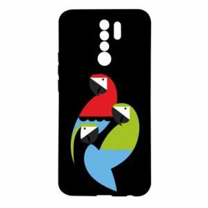 Etui na Xiaomi Redmi 9 Jaskrawe papugi