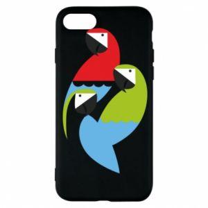 Etui na iPhone 8 Jaskrawe papugi
