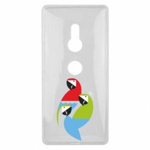 Etui na Sony Xperia XZ2 Jaskrawe papugi