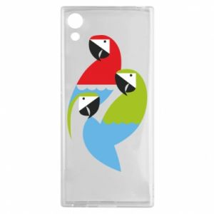 Etui na Sony Xperia XA1 Jaskrawe papugi