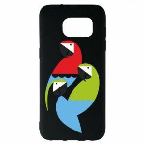 Etui na Samsung S7 EDGE Jaskrawe papugi