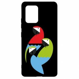 Etui na Samsung S10 Lite Jaskrawe papugi