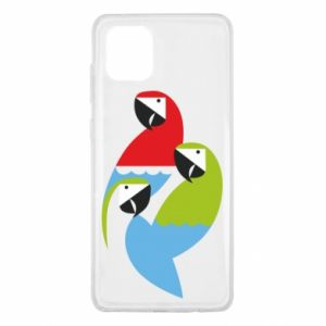 Etui na Samsung Note 10 Lite Jaskrawe papugi