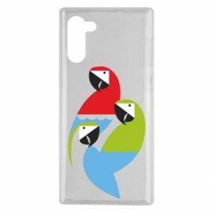 Etui na Samsung Note 10 Jaskrawe papugi