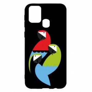 Etui na Samsung M31 Jaskrawe papugi