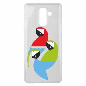 Etui na Samsung J8 2018 Jaskrawe papugi