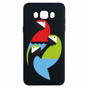Etui na Samsung J7 2016 Jaskrawe papugi