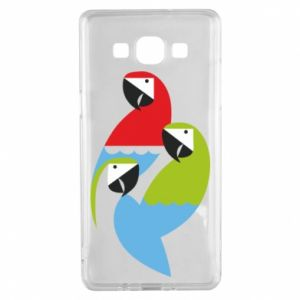 Etui na Samsung A5 2015 Jaskrawe papugi