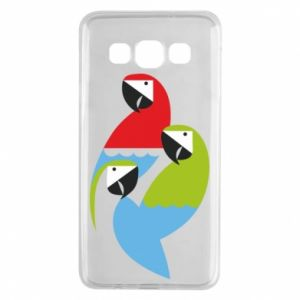 Etui na Samsung A3 2015 Jaskrawe papugi