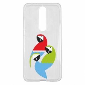 Etui na Nokia 5.1 Plus Jaskrawe papugi