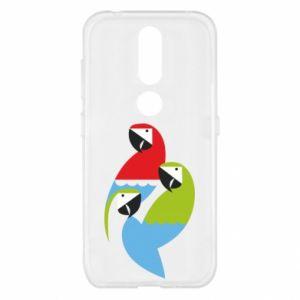 Etui na Nokia 4.2 Jaskrawe papugi