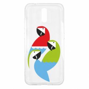 Etui na Nokia 2.3 Jaskrawe papugi