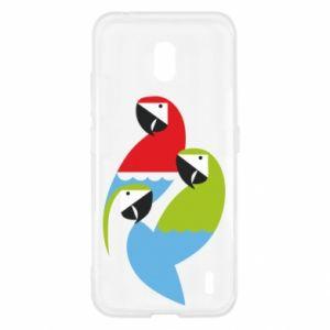 Etui na Nokia 2.2 Jaskrawe papugi