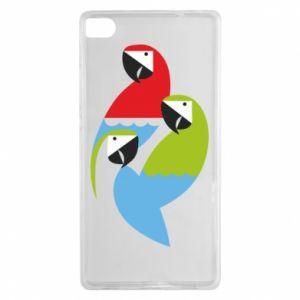 Etui na Huawei P8 Jaskrawe papugi