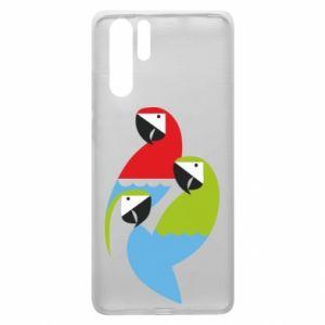Etui na Huawei P30 Pro Jaskrawe papugi