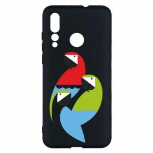 Etui na Huawei Nova 4 Jaskrawe papugi