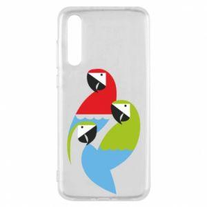 Etui na Huawei P20 Pro Jaskrawe papugi
