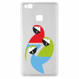 Etui na Huawei P9 Lite Jaskrawe papugi