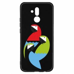 Etui na Huawei Mate 20 Lite Jaskrawe papugi
