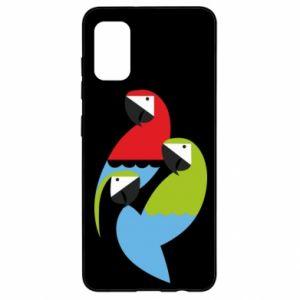 Etui na Samsung A41 Jaskrawe papugi