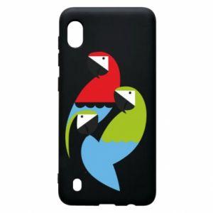 Etui na Samsung A10 Jaskrawe papugi