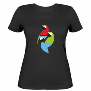 Damska koszulka Jaskrawe papugi
