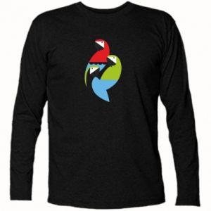 Koszulka z długim rękawem Jaskrawe papugi
