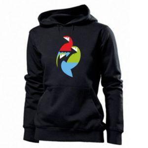 Damska bluza Jaskrawe papugi