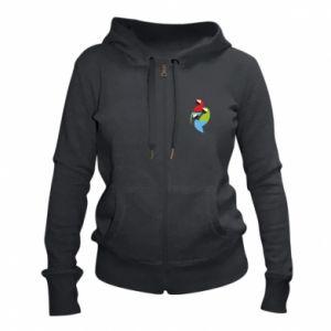 Damska bluza na zamek Jaskrawe papugi