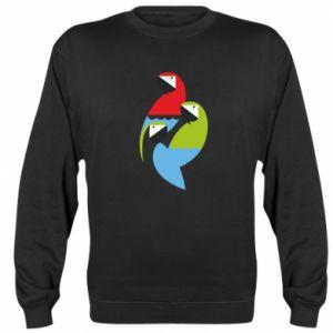 Bluza (raglan) Jaskrawe papugi