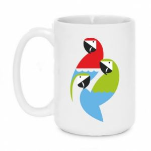 Kubek 450ml Jaskrawe papugi