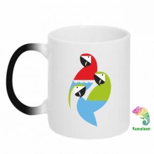 Kubek-kameleon Jaskrawe papugi