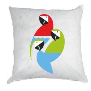 Poduszka Jaskrawe papugi