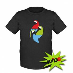 Dziecięcy T-shirt Jaskrawe papugi